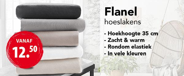 Flanellen Hoeslakens