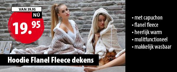 Hoody Flanel Fleece Capuchon