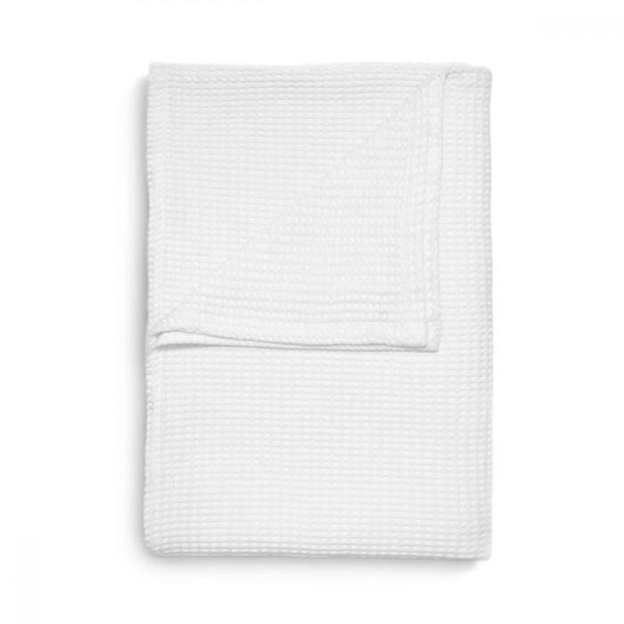 Heckett & Lane Wafel Bedsprei Plaid - white
