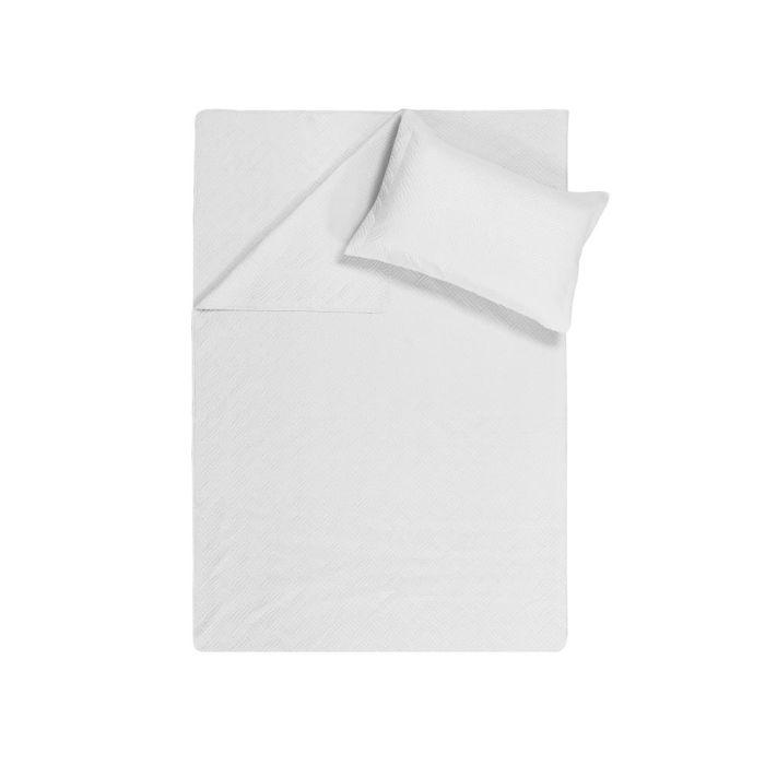 Sleeptime Wave Bedsprei - white 260x250cm