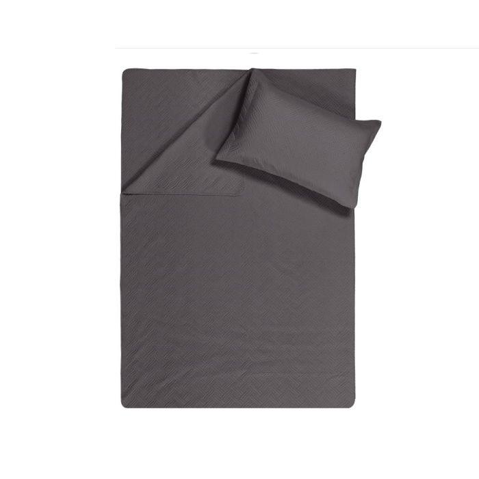 Sleeptime Wave Bedsprei - anthracite 260x250cm