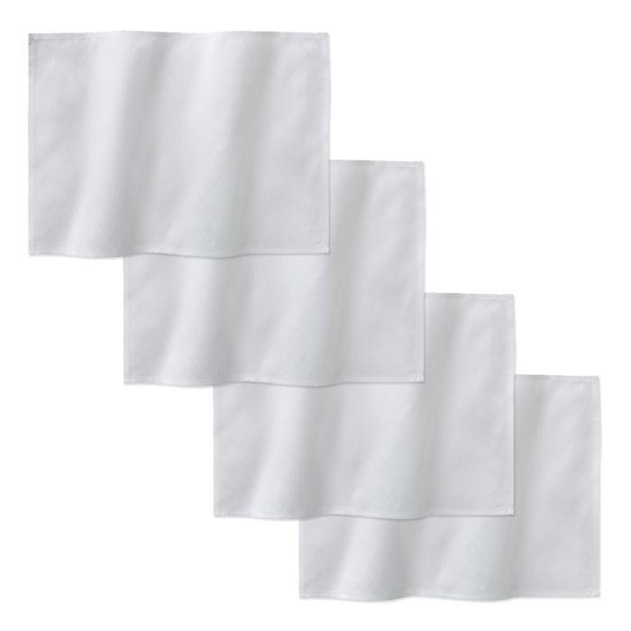 DDDDD Placemats Rhombus 50x35cm - white - set van 4 - in Placemats