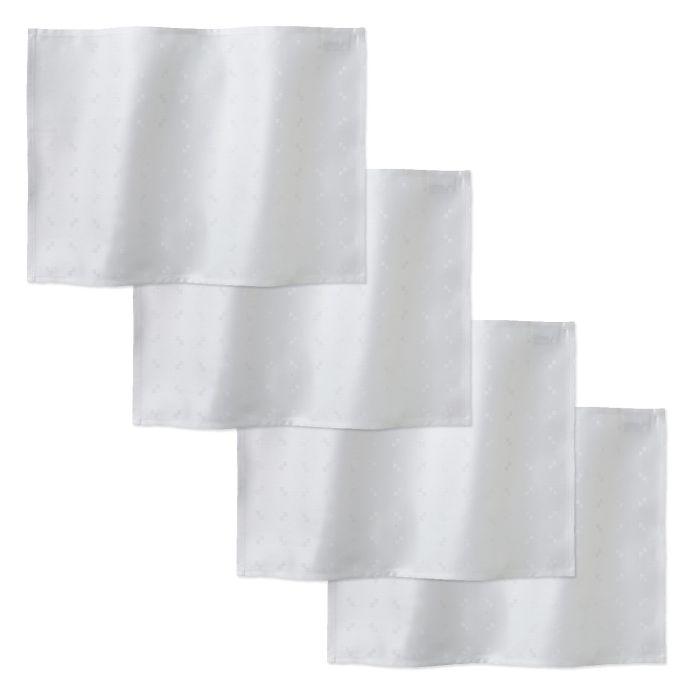 DDDDD Placemats Quadrat 50x35cm - white - set van 4 - in Placemats