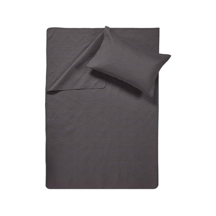 Sleeptime Art Bedsprei - anthracite 260x250cm