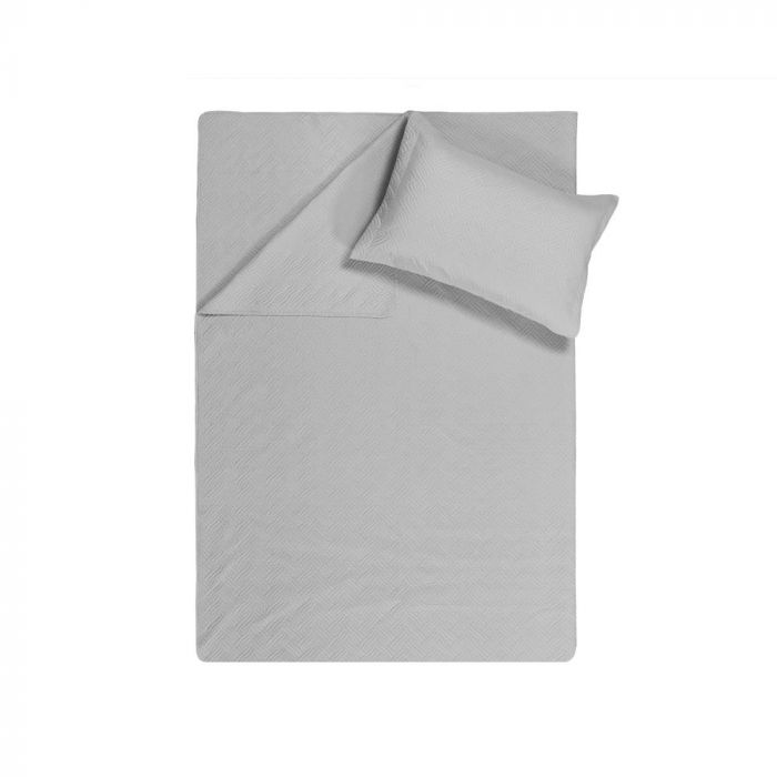 Sleeptime Wave Bedsprei - silver 260x250cm