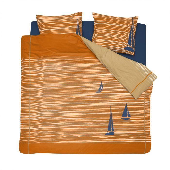 Cinderella Dekbedovertrekset Katoen Boats - burned orange