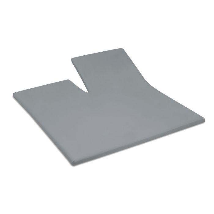 Damai Splittopper Single Split Hoeslaken Biologisch Katoen Satijn - grey