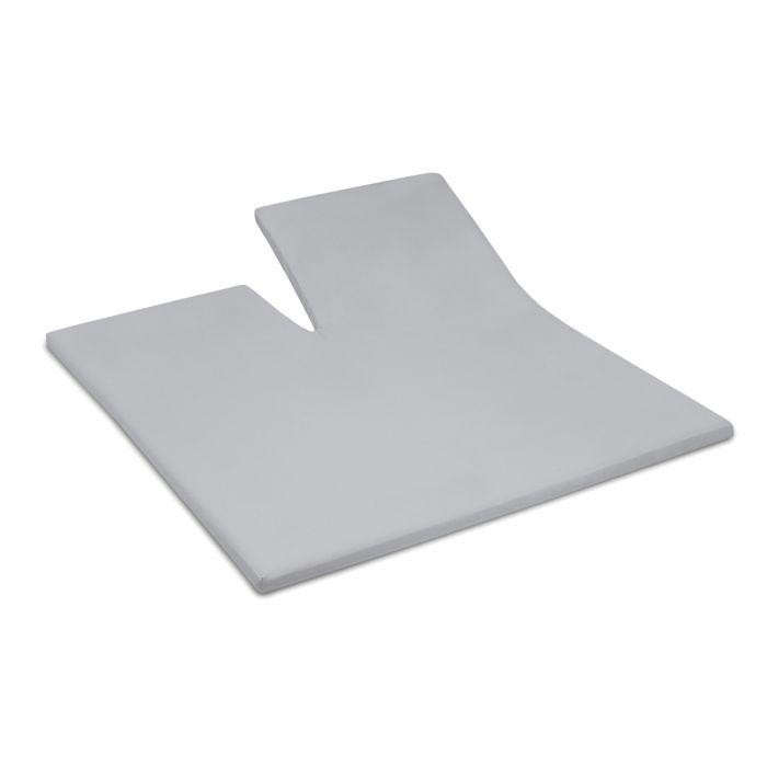 Damai Splittopper Single Split Hoeslaken Biologisch Katoen Satijn - light grey