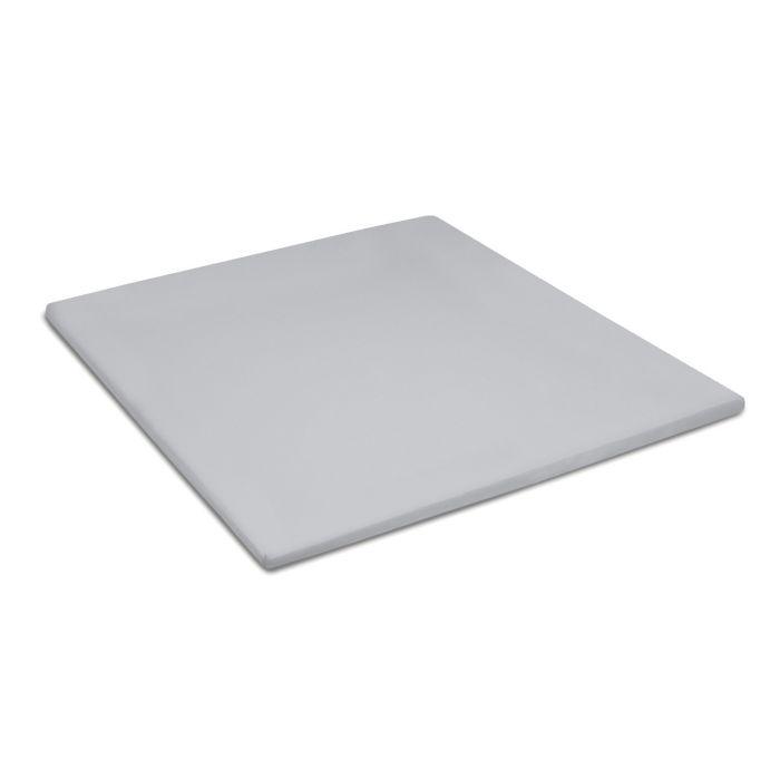 Damai Topper Hoeslaken Biologisch Katoen Satijn - light grey