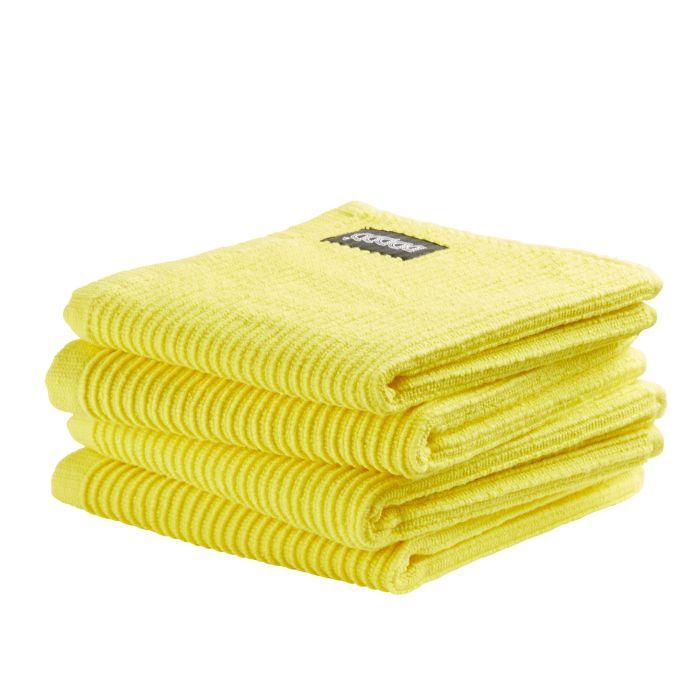 DDDDD Vaatdoek Basic Clean 30x30cm - bright yellow - set van 4