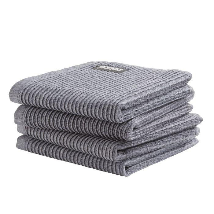 DDDDD Vaatdoek Basic Clean 30x30cm - neutral grey - set van 4