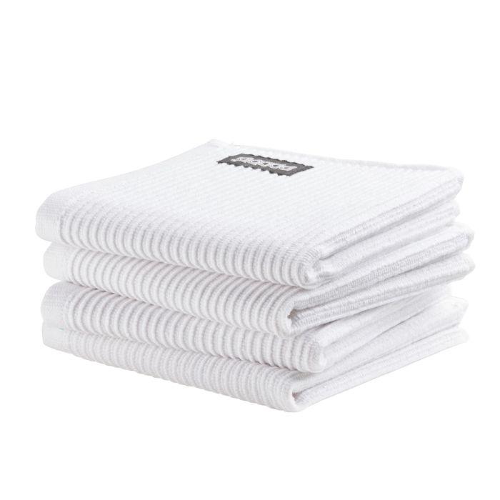 DDDDD Vaatdoek Basic Clean 30x30cm - neutral white - set van 4
