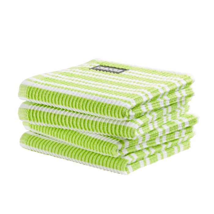 DDDDD Vaatdoek Classic Clean 30x30cm - bright green - set van 4