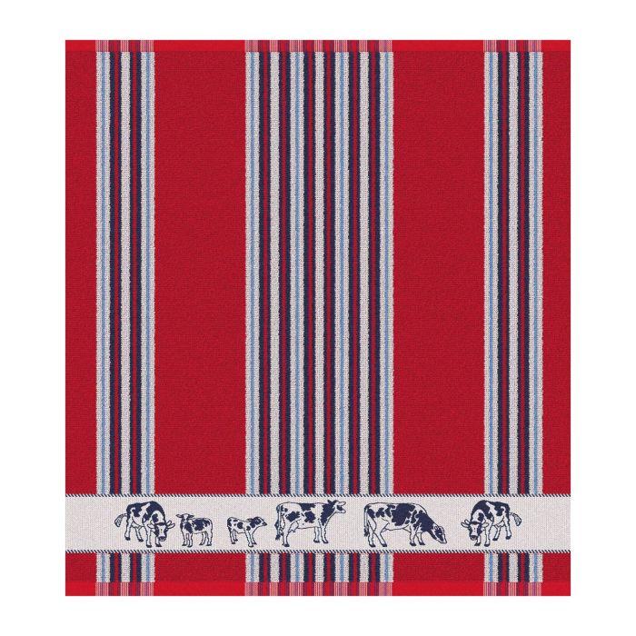 DDDDD Keukendoek Friesian 50x55cm - red - set van 6