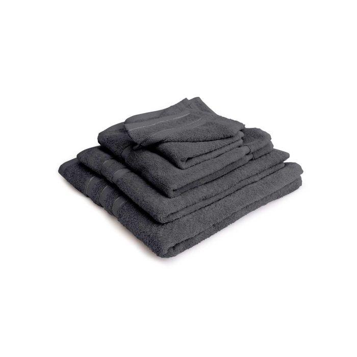 LINNICK Pure Badgoedset 100% Katoen - dark grey - 12-delig
