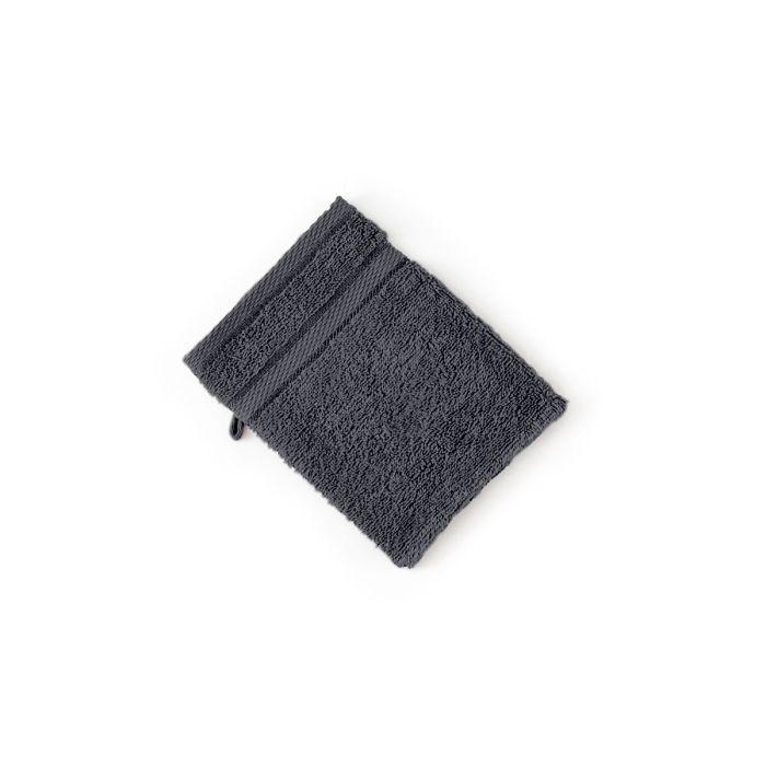 LINNICK Pure Washand 16x21cm - dark grey - Set van 6 - in Washandjes