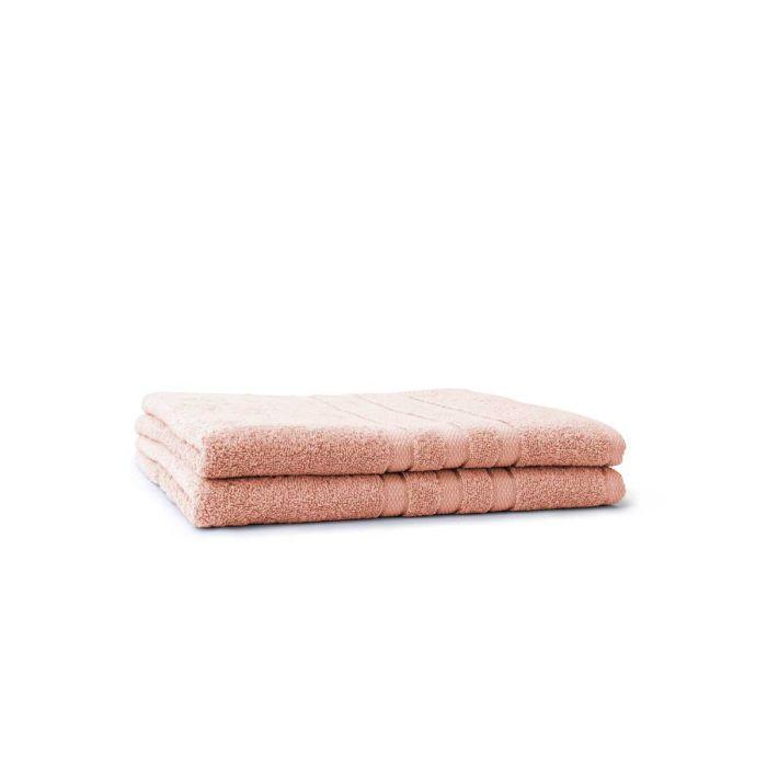 LINNICK Pure Badlaken 70x140cm - light pink - Set van 2