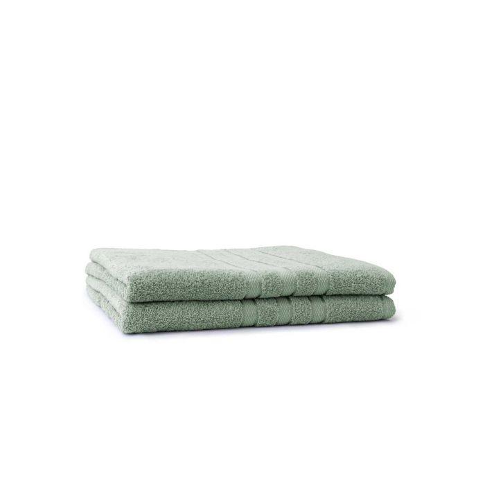 LINNICK Pure Badlaken 70x140cm - soft green - Set van 2
