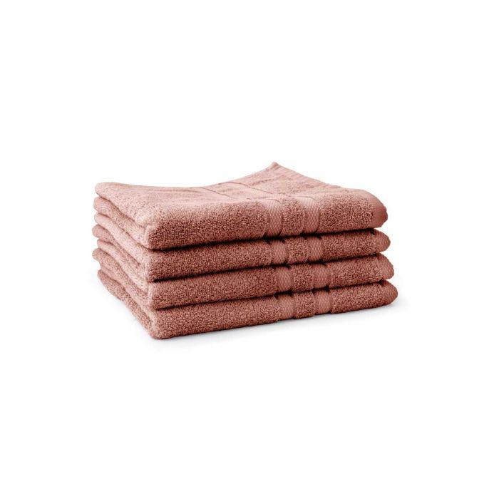 LINNICK Pure Handdoek 60x110cm - rose - Set van 4