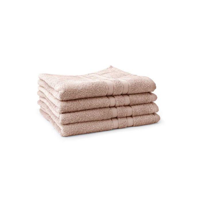 LINNICK Pure Handdoek 60x110cm - nude - Set van 4