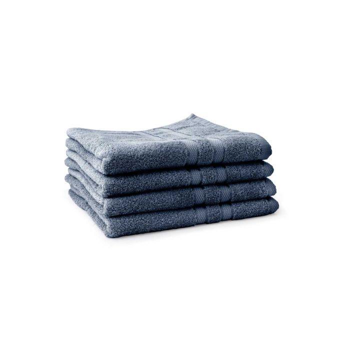 LINNICK Pure Handdoek 60x110cm - ocean blue - Set van 4