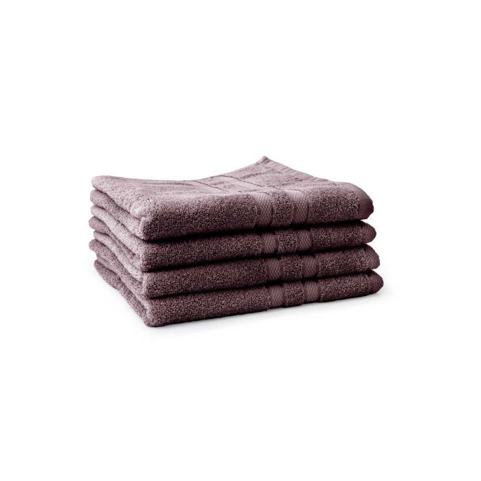 LINNICK Pure Handdoek 60x110cm - purple - Set van 4