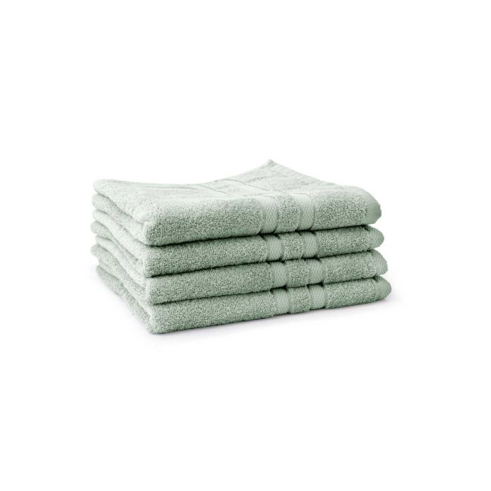 LINNICK Pure Handdoek 60x110cm - soft green - Set van 4