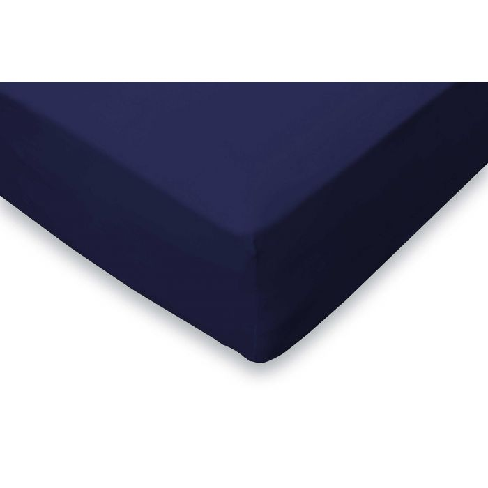 Elegance Hoeslaken Jersey Katoen Stretch 35cm Hoge Hoek - donker blauw