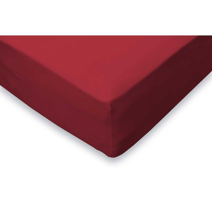 Elegance Hoeslaken Jersey Katoen Stretch 35cm Hoge Hoek - rood