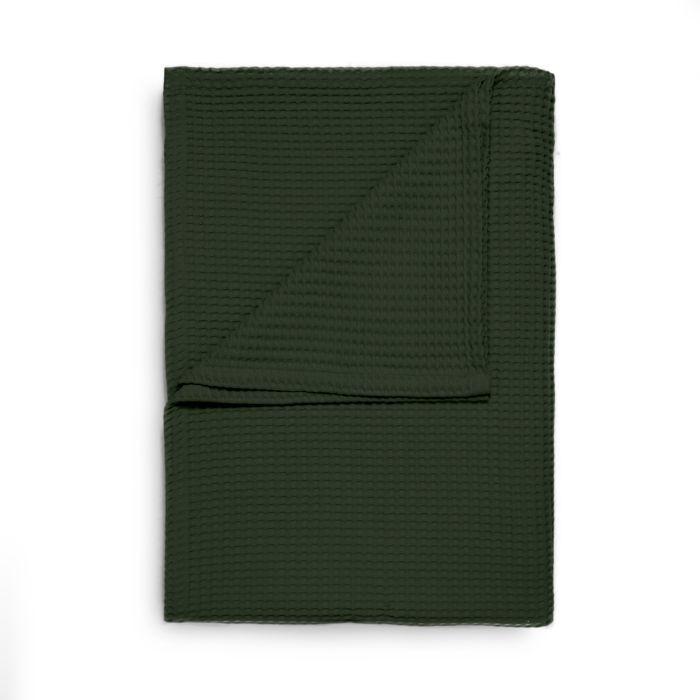 Heckett & Lane Wafel Bedsprei plaid - bistro green