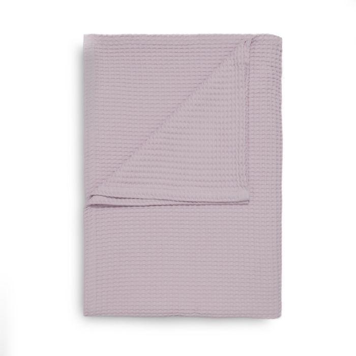Heckett & Lane Wafel Bedsprei Plaid - pale lilac