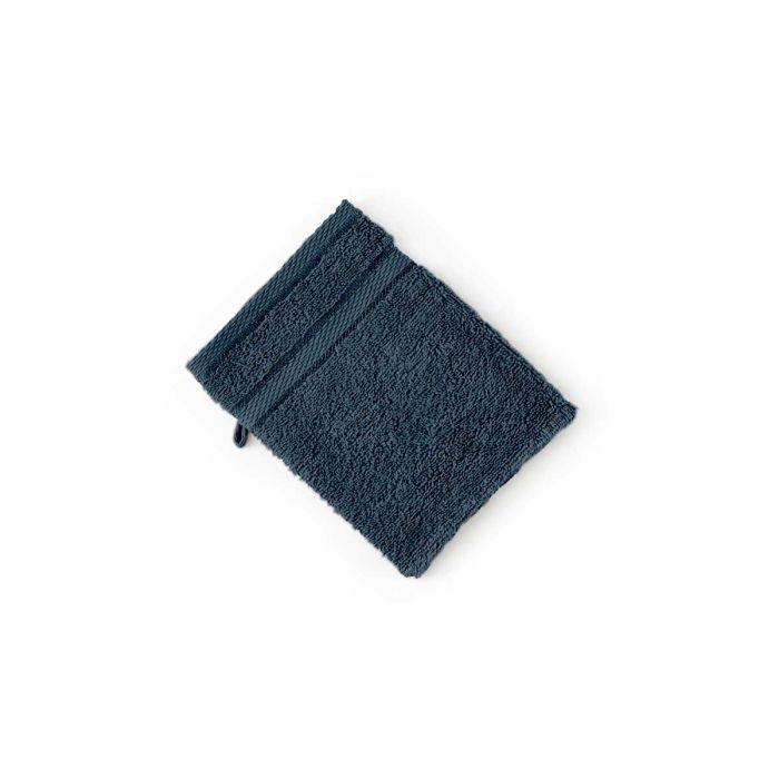 LINNICK Pure Washand 16x21cm - ocean blue - Set van 6 - in Washandjes