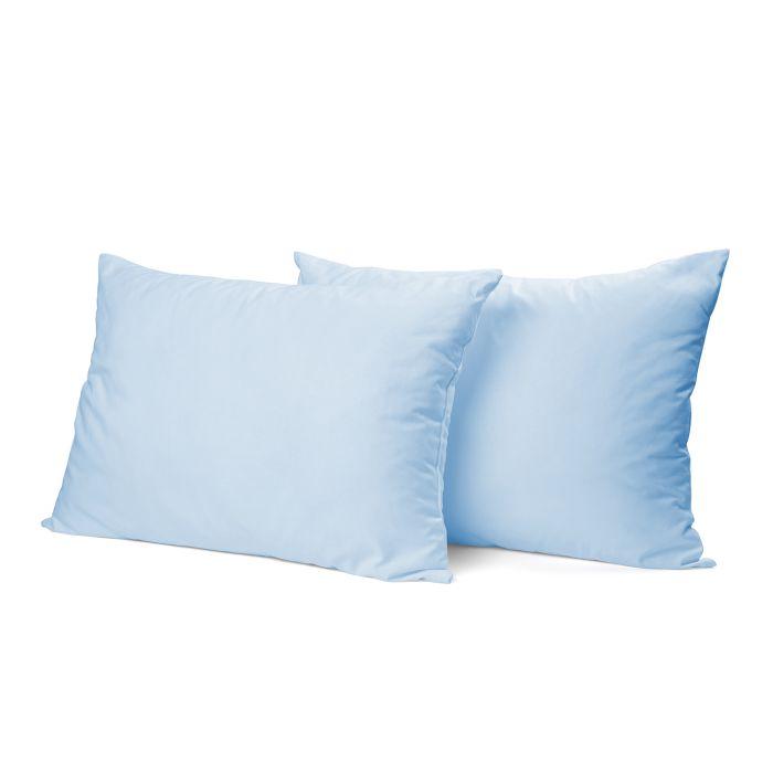 Elegance Kussensloop Hotelsluiting Percal Katoen - licht blauw 60x70cm - in Kussenslopen