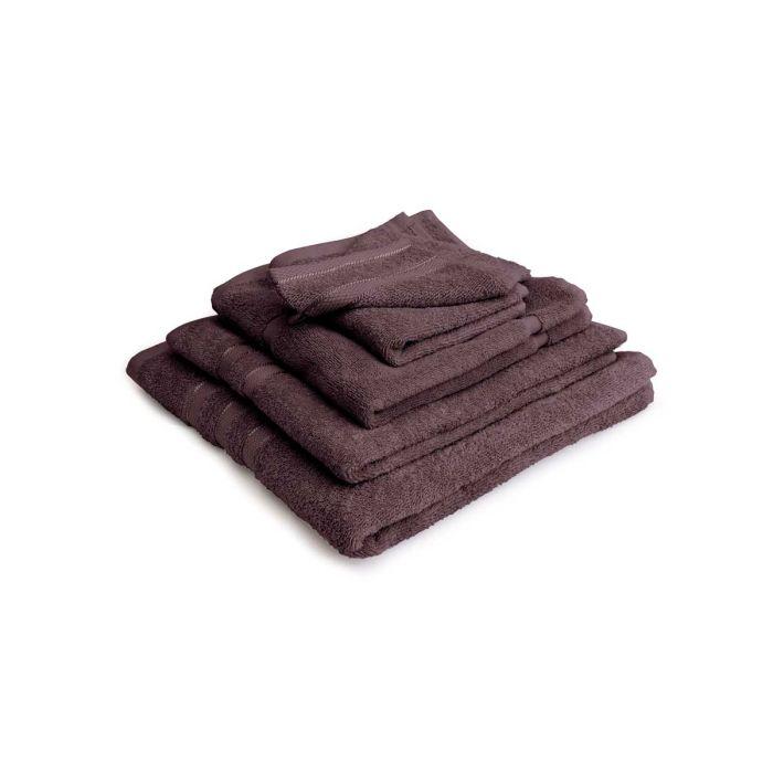 LINNICK Pure Badgoedset 100% Katoen - purple - 12-delig