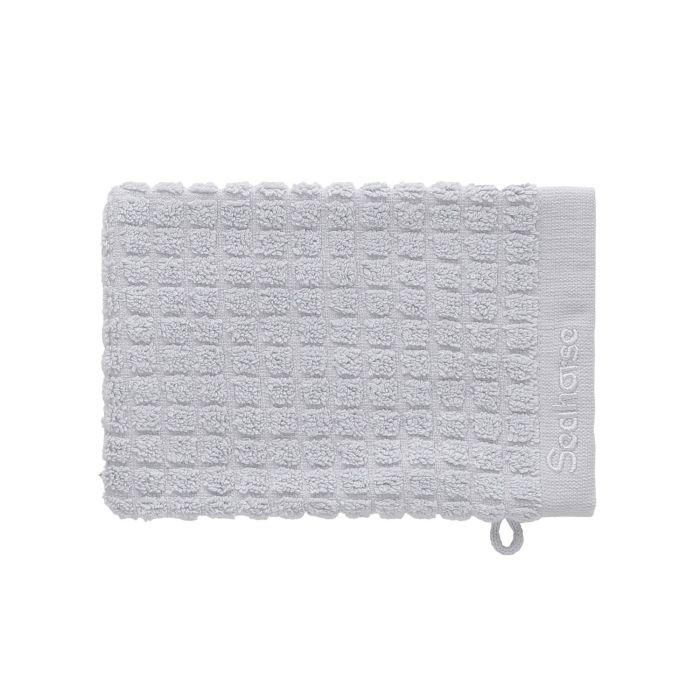 Seahorse Cube Washand 16x21cm - silver cloud - Set van 3 - in Washandjes
