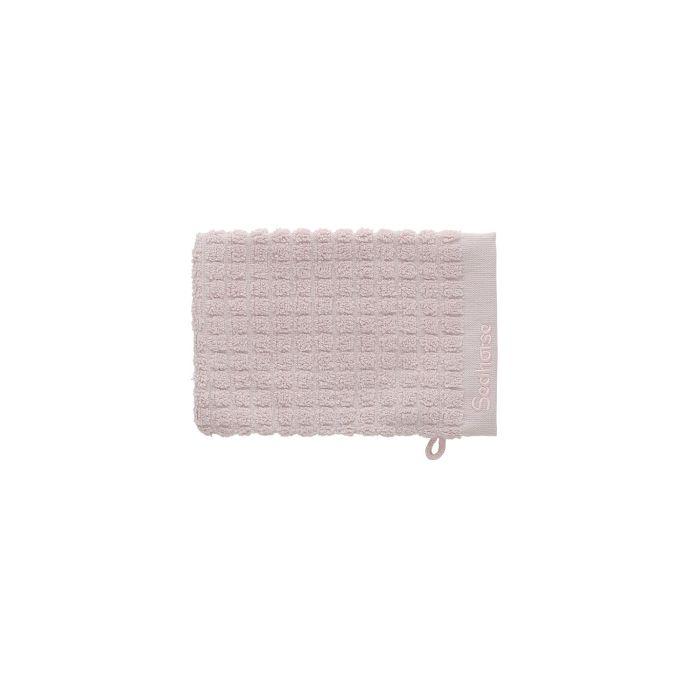 Seahorse Cube Washand 16x21cm - soft blush - Set van 3 - in Washandjes