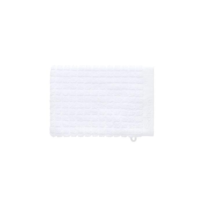 Seahorse Cube Washand 16x21cm - white - Set van 3 - in Washandjes