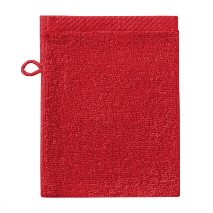 Seahorse Pure Washand 16x21cm - red - Set van 3 - in Washandjes