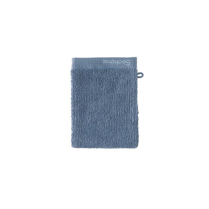 Seahorse Ridge Washand 16x21cm - jeans - Set van 3 - in Washandjes