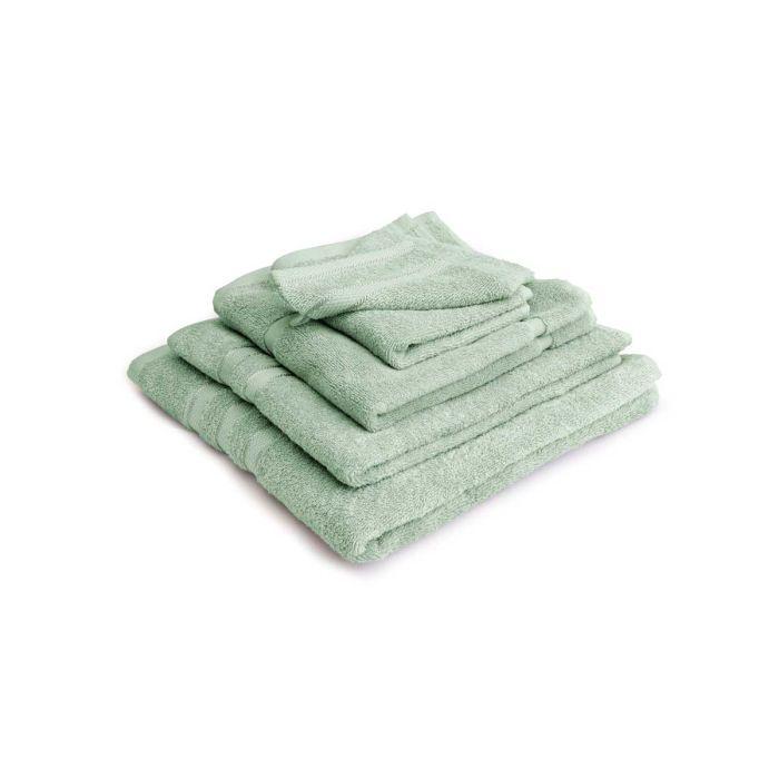 LINNICK Pure Badgoedset 100% Katoen - soft green - 12-delig