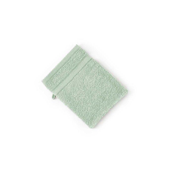 LINNICK Pure Washand 16x21cm - soft green - Set van 6 - in Washandjes