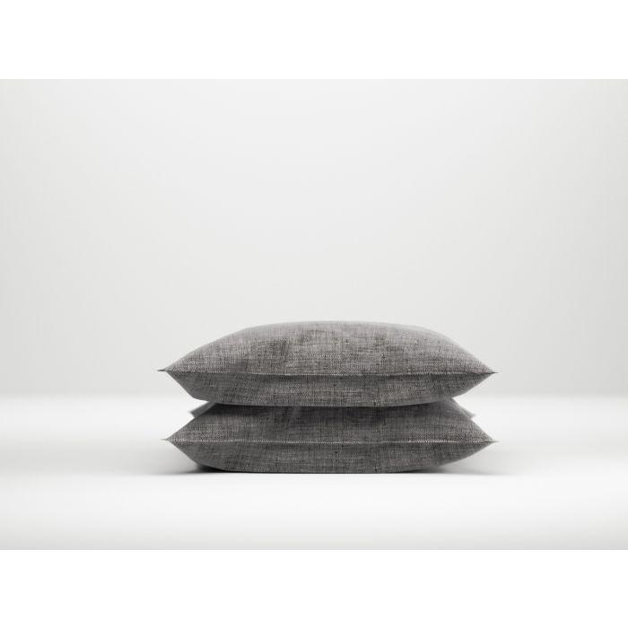Zo Home Lino Kussensloop Linnen Look - dark grey 60x70cm - in Kussenslopen