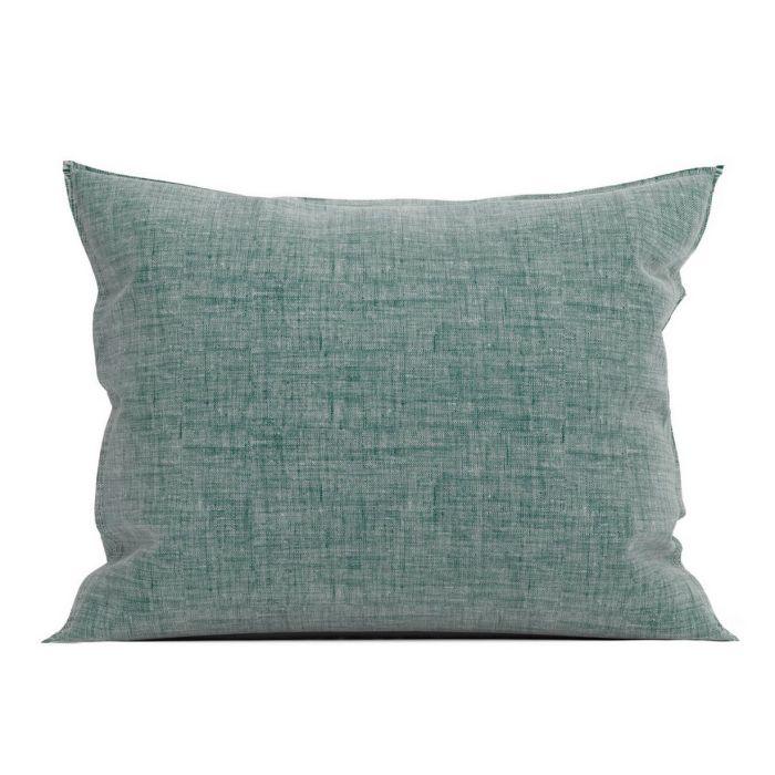 Zo Home Lino Kussensloop Linnen Look - emerald green 60x70cm - in Kussenslopen