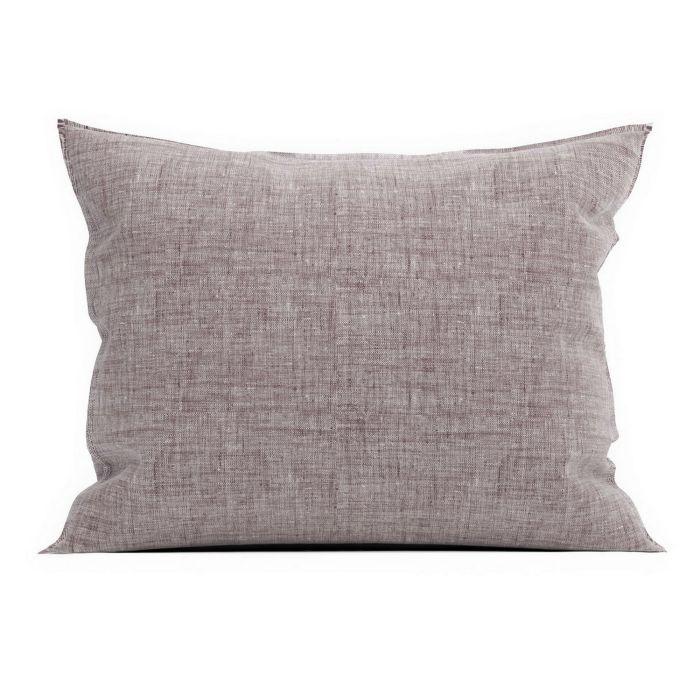 Zo Home Lino Kussensloop Linnen Look - purple 60x70cm - in Kussenslopen