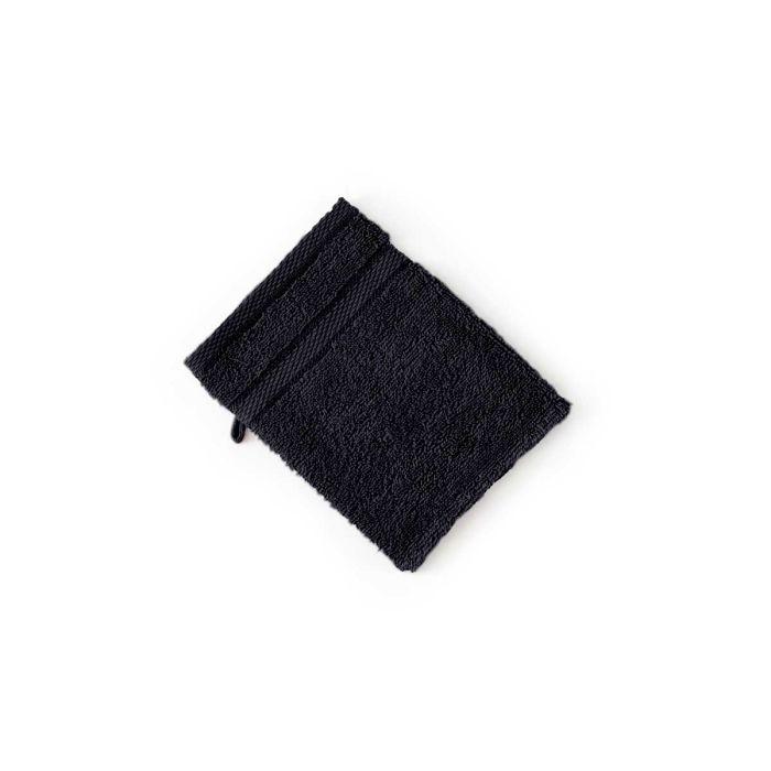 LINNICK Pure Washand 16x21cm - black - Set van 6 - in Washandjes